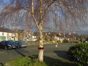 Festive Trees in carpark 2
